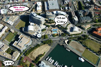 Aerial view of Pyrmont